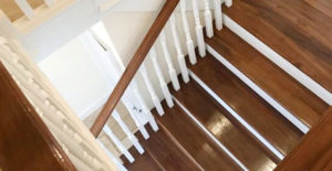 Walnut staircase renovation