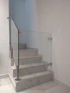 Contemporary glass baby gate