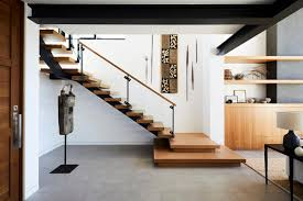 Minimalistic staircase design feature step