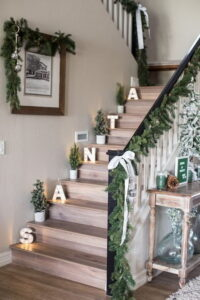 Light up letters for staircase
