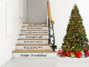 Cristmas staircase decal decoration