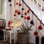 bauble staircase Christmas decoration