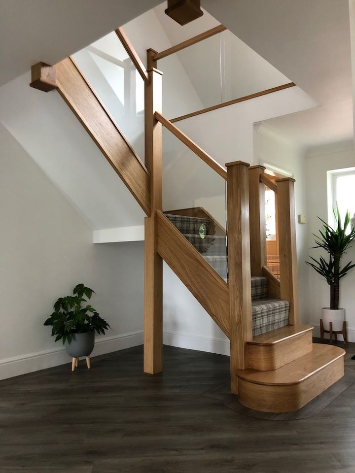 2021 glass design stair trends