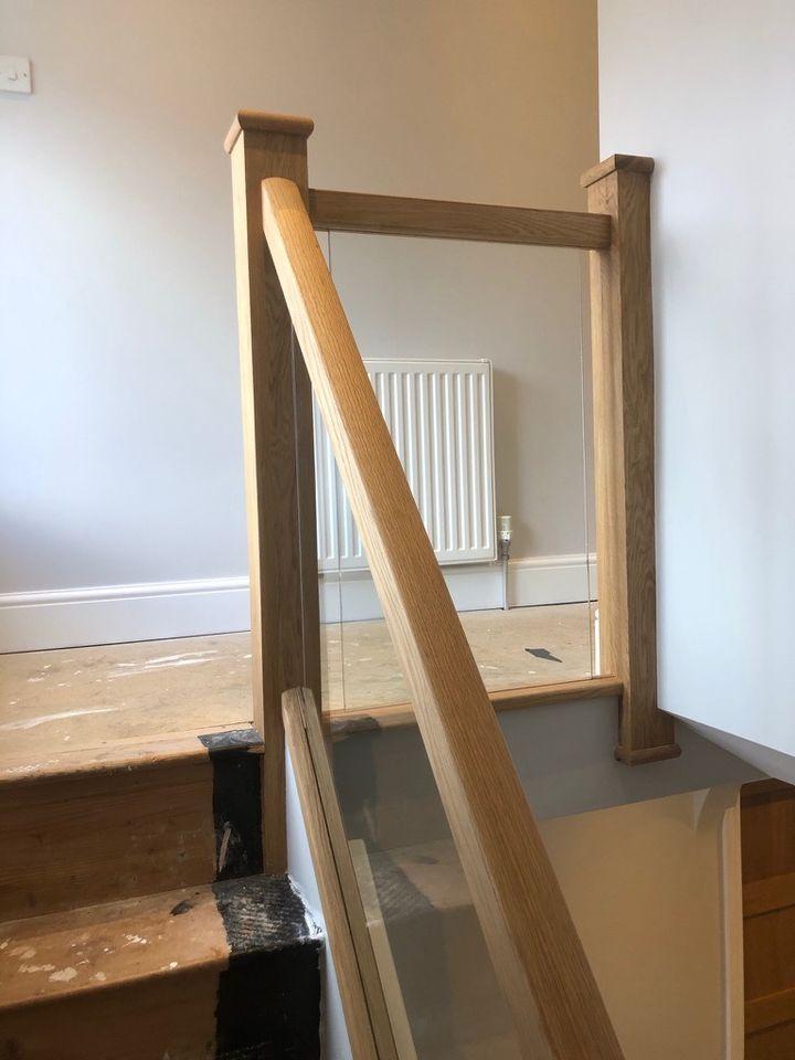 Kingswinford Staircase Glass Balustrade