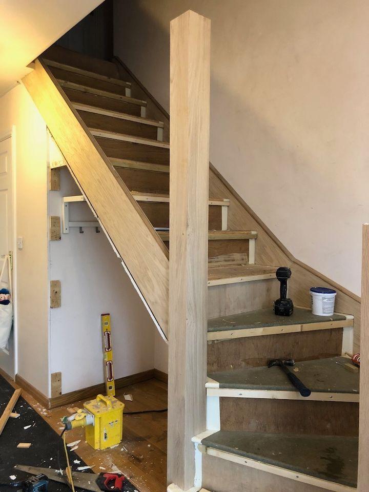 Oakhalls Oak staircase installation