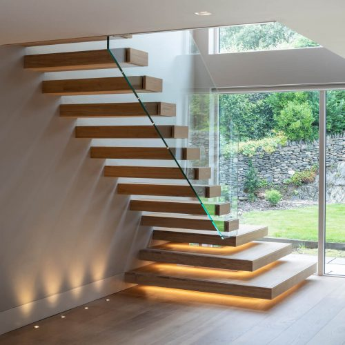 Minimalistic Floating Staircase
